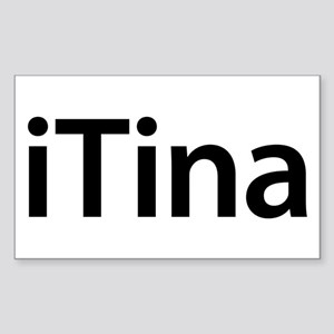 iTina Rectangle Sticker